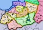 Podział terytorialny plemion pruskich w XIII w., wg. M. Toeppena
