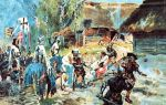 Zniewolenie Prusów przez Krzyżaków przedstawione na obrazie Wojciecha Kossaka