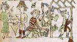 Tak to mogło wyglądać… Ilustracja  z ok. 1300 r. przedstawiająca akt lokacyjny, karczunek lasu i budowę wsi