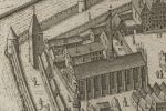 Kościół franciszkański i zabudowania klasztoru znajdowały się w północno-zachodnim narożu Starego Miasta Braniewa. W miejscu klasztoru powstał neobarokowy gmach jezuicki, zaś kościół został rozebrany w 1809 r. W 1565 r. mienie zakonu franciszkanów przejęli jezuici, którzy założyli tu Hosianum. Podczas rebelii w latach 1524-1526 franciszkanie byli celem ataków zwolenników luteranizmu. Fragment prospektu Stertzla z 1635 r.
