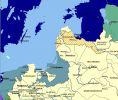 Mapa przedstawiająca teren działań wojennych w roku 1660, a więc po zawarciu pokoju ze Szwecją.