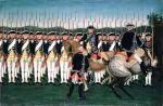 Każdego roku latem w miejscowości Mokre koło Grudziądza odbywały się przeglądy wojsk dokonywane osobiście przez kolejnych królów pruskich. Tradycję tą mogła przerwać tylko wojna. Na ilustracji Fryderyk II z żołnierzami Heskiego Regimentu Gwardii, Autor Peter Brock.