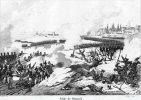 ilustracja przedstawiająca walki o twierdzę gdańską w 1807 r.