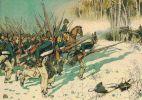 Atak pruskiej piechoty w bitwie pod Pruską Iławą 8.02.1807r.