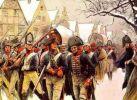 Piechota pruska w marszu