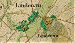 fragment mapy z XVIII w. przedstawiający Lipowinę i okolice