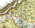 fragment mapy Prus (Tabula Prussiae), której autorem Caspar Henneberger von Erlich (1529-1600) z Królewca – niemiecki duchowny luterański, historyk i kartograf. Wydana w 1645 r. przez Willem Bleau z Amsterdamu na podstawie drzeworytów z 1576 r. wydrukowanych w Elblagu Hanneberga.