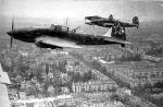 Samoloty szturmowe Ił-2 nad Berlinem 1945r.