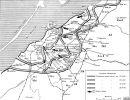 Radziecka mapa działań w rejonie Braniewa w 1945r.