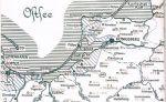 Niemiecka mapka przedstawiająca teren walk w 1945r.