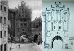 Gdyby Brama Wysoka przetrwała próbę czasu może wyglądałaby tak jak zbudowana w XIV w. Wysoka Brama w Olsztynie (inna nazwa Brama Górna). Jedna z 3 olsztyńskich bram. Wzniesiona w stylu gotyckim, na planie zbliżonym do kwadratu o boku 9,5 m z niewielkimi odchyleniami, węższa neogotycka klatka schodowa dostawiona od wschodu. Wysokość 23 m. Brama jest 4-kondygnacyjna, z pięterkiem tworzącym rodzaj 5. kondygnacji w strefie szczytu; dach dwuspadowy; szczyty schodkowe; od strony wschodniej, niższa, również 4-kondygnacyjna przybudówka kryta odrębnym dachem dwuspadowym prostopadłym do kalenicy bryły głównej. Odrestaurowana w 2003r.