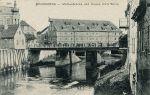 Braniewski Wielki Młyn Miejski na pocztówce z początku XX w. Na pierwszym planie stary Most Młyński, który zastąpiono nowym betonowym w 1915 r.