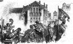 Polska artyleria podczas oblężenia Malborka w 1410r.