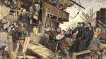 1401. Egzekucja Klausa Störtebekera herszta piratów bałtyckich, tzw. Braci Witalijskich