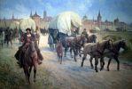 Niemieccy handlarze w drodze do hanzeatyckiego miasta