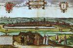 panorama Gdańska z 1575 r.