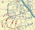 Bitwa warszawska. Odparcie natarcia niemieckiej 4 Dywizji Pancernej w dniach 9-10.09.1939. Na planie widoczne stanowiska II/40 pp, tj. II batalionu 40 pułku piechoty