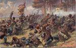 Atak austriackiej piechoty na pozycje pruskich oddziałów pod Trautenau (obecnie Trutnov w Czechach) w dniu 27.06.1866r. Było to jedyne zwycięstwo austriackie w czasie tej wojny, okupione jednak wielkimi stratami własnymi