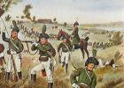 Jegrzy podczas walki pod  Altenzaun w dniu 26.10.1806r., na koniu płk von Yorck