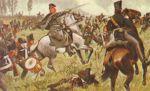 Podczas marszu I korpusu na Lipsk w dniu 3.10.1813r. gen. Yorck stoczył zwycięską bitwę pod Wartenburgiem nad Łabą, pokonując siły francuskiego IV korpusu dowodzonego przez gen. Bertranda. Od miejsca tej bitwy król w 1814r. mianował go hrabią Yorck von Wartenburg. Pocztówka z 1913r. ukazująca gen. Yorcka podczas bitwy pod Wartenbergiem.