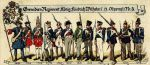 W latach 1817-18148 z przerwami w Braniewie stacjonuje batalion fizylierów 2. Ostpreussisches Infanterie-Regiment Prinz Heinrich. Oddział ten powróci do miasta i w latach 1893-1912 będzie stanowił garnizon jako batalion fizylierów Grenadier-Regiment König Friedrich Wilhelm I (2. Ostpreussisches)Nr. 3.Dużo wskazuje , że batalion ten był w Braniewie również w okresie 1808-1809. Na ilustracji umundurowanie oddziału na przestrzeni istnienia tj. w latach 1685-1902.