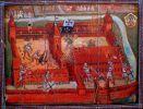 1455. Atak krzyżaków na Braniewo zajęte przez mieszczan w mieniu Króla Polski i Związku Pruskiego. Obraz Zdzisława Walczaka.