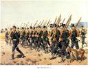 Żołnierze 1 wschodniopruskiego batalionu jegrów z Braniewa w marszu.