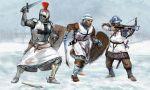 Rycerze krzyżaccy w połowie XIII wieku tj. w okresie walk z Prusami