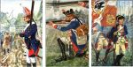 Wojsko pruskie z okresu 1756-1763 tj. wojny siedmioletniej. Kolejno żołnierze z braniewskich jednostek: grenadier  Infanterie-Regiment Nr.  53, muszkieter Infanterie-Regiment  Nr. 14 i kapral Infanterie-Regiment Nr. 16