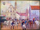 W dniu 12.06.1812r. Braniewo odwiedził Cesarz Francuzów Napoleon I Bonaparte. Obraz Zdzisława Walczaka.