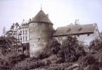 przedwojenny widok na Wieżę Młyna Kieratowego od strony fosy miejskiej