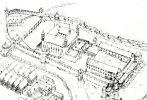 Zamek biskupi w Lidzbarku Warmińskim. Siedziba biskupów warmińskich od 1350r. kiedy budowę murowanego zespołu zamkowego rozpoczął biskup Jan z Miśni. Na początku wojny trzynastoletniej związkowcy zdobyli zamek i trwali po stronie polskiej do 1460r. We wrześniu 1460r. Legendorf osiadł w mieście, natomiast zamek odkupił od polskich zaciężnych za 10 tys. grzywien w sierpniu 1461r. Ilustracja przedstawia przypuszczalny stan zespołu zamkowego na przełomie XIV/XVw.