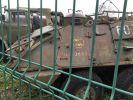 2019. Zezłomowany transporter opancerzony SKOT 2 wersja R-3 (taktyczny wóz dowódczo-sztabowy) ze znakiem 16 Kaszubskiej Dywizji Pancernej (wiatrak). Jednostka nieznana. Zdjęcie udostępnione przez modelarza Zbigniewa Ciesielskiego. Skot 2 został opracowany przez Polskę i Czechosłowację, produkowany w latach 1963-1971 w ilości 4,5 tys. sztuk, z czego 2,5 tys. trafiło do LWP.