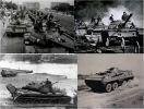 Kompilacja poglądowych zdjęć przedstawiających pojazdy LWP: czołgi T-54A i T-55 oraz transporter opancerzony SKOT. -54 — radziecki czołg podstawowy I generacji powojennej, produkowany w Polsce w latach 1956-1964.W PRL wyprodukowano 3000 szt. Po uruchomieniu produkcji czołgów T-55A, wszystkie polskie czołgi T-54 zmodernizowano do standardu T-55A, zmieniając ich oznaczenie na T-55U. T-55 radziecki czołg podstawowy I generacji, produkowany w Polsce w latach 1964-1981 w ilości 5000 szt. Do lat 90-tych podstawowy czołg wojska polskiego. Kołowy, pływający transporter opancerzony SKOT opracowany wspólnie przez Czechosłowację i Polskę. Pojazd posiada cztery osie i wyposażony w wieżę strzelecką. W latach 1963-1971 wyprodukowano ponad 4500 szt. , z czego 2500 szt. dla LWP. Przez lata podstawowy transporter opancerzony LWP, stopniowo zastępowany przez bojowe wozy piechoty BWP-1.