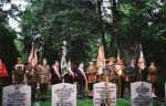 pogrzeb Kazimierza Łodzińskiego ps. Markiz na Cmentarzu Wojskowym na Powązkach w Warszawie, spoczął obok kolegów żołnierzy Batalionu Zośka.