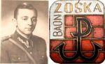 ppor. Kazimierz Łodziński jako oficer-lekarz w jednostce w Braniewie oraz odznaka z emblematem Batalionu Zośka. Podczas służby w LWP w latach 1949-1953 były podchorąży Armii Krajowej i lekarz chirurgii dziecięcej służył w Braniewie w jednostce pancernej.