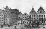 Zbudowanie poczty w 1841 r. i uruchomienie poczty konnej przez ulicę Pocztową przyczyniło się w znacznym stopniu do rozebrania Bramy Kotlarskiej. Ilustracja przedstawia dawny budynek poczty zbudowany w I połowie XIX w. Główną przyczyną były niewielkie wymiary przejazdu bramnego uniemożliwiającego płynny ruch pojazdów konnych.