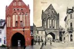 Gdyby Brama Młyńska lub Brama Kotlarska przetrwały próbę czasu może wyglądałaby tak jak zbudowana w XIV w. Kamienna Brama w Świdwinie. Zbudowana w XIV w., oddzielała starą część miasta od nowych zabudowań. Brama powstała na planie czworokąta o dwóch kondygnacjach nadziemnych z poddaszem. Ściany wykonane zostały z cegły gotyckiej, przemurowanej kamieniem polnym. Od strony wschodniej dobudowano ściany przyporowe, tzw. blendy. W 1475 roku miała miejsce przebudowa bramy, a jej szczyty zmieniono w XVIII w.