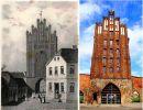 Gdyby Brama Młyńska lub Brama Kotlarska przetrwały próbę czasu może wyglądałaby tak jak zbudowana w XV w. Brama Wolińska w Goleniowie. Pierwotnie strażnica obronna z kamieni narzutowych (II poł. XIII w.), w XIV, XV w. nadbudowana ceglaną wieżą. To budynek 5-kondygnacyjny. Reprezentuje typ bramy szczytowej. Zachowana w niezmienionej formie od XV w. Zbudowana w 1/4 z kamienia i z 3/4 z cegły. Ściany szczytowe mają odmienne rozwiązania architektoniczne, zewnętrzna – obronną, wewnętrzna – estetyczną. Wysokość bramy wynosi 26 m (ze sterczyną 29,85 m), natomiast otworu bramowego – 5,25 m, jego szerokość 4,85 m, a długość przejazdu – 10,5 m. Na ilustracji z 1846 r. i współcześnie.