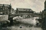 Most Młyński w tej postaci powstał w latach 1914-1915. Został wysadzony ok. 20.03.1945 r. i w 1948 r. odbudowany przez Polaków w bardzo zbliżonej formie. Co ciekawe działania wojenne przetrwały charakterystyczne wieżyczki w narożnikach mostu.