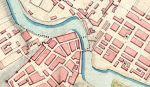 01Plan wykonany przez wojsko francuskie w roku 1807 podczas okupacji Braniewa. Na typ etapie odbudowany jest Most Młyński i zaznaczony jako prowizoryczna przeprawa Most Kotlarski, którego bronią polowe umocnienia. Oba mosty zostały wcześniej tj. 28.02.1807 r. a następnie odbudowane i umocnione na rozkaz cesarza Napoleona, który polecił wykonanie w braniewie umocnionego przyczółka mostowego.