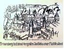 Ilustracja nawiązuje do oblężenia Braniewa w 1478 r. przez wojsko polskie pod dowództwem Jana Białego, podczas tzw. wojny kleszej. W tle widoczne okręty gdańskie i elbląskie, które blokowały wówczas ujście Pasłęki. Autor wykorzystał widok Braniewa z planu Stertzla z 1635 r. Na pierwszym planie Wieża Węglarska i Brama Wysoka, dalej kościół jezuicki i ratusz. Ilustracja ze strony fb Braunsberg – Braniewo w opisach i fotografii