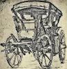 Wóz podróżny ze skórzanymi zasłonami, autor holenderski malarz i rytownik Willem Buytewech (1591-1624) z ok. 1622 r.