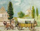 1809. żółty powóz poczty pasażerskiej