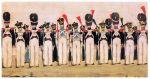 latem w 1812 r. przez Braniewo przeszło kilka tysięcy polskich żołnierzy ze składu polsko-niemieckiej 7 dywizji. Na ilustracji żołnierze 11 pułku piechoty księstwa warszawskiego