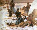 odwrót z Rosji miał miejsce w styczniu 1813 r. wówczas polscy żołnierze wyglądali jak ci na obrazie Wojciecha Kossaka pt. Biwak.