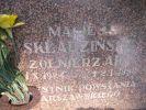 ablica nagrobkowa Macieja Leonidasa Składzińskiego ps. Wiarus (1924-1996) na cmentarzu komunalnym we Fromborku przy ul. Braniewskiej