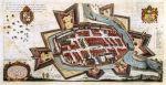 Braniewo w 1635 r. wg miedziorytu P. Stertzella. To właśnie w XVI-XVII w. zaczęto w Braniewie organizować ochronę przeciwpożarową. Plan szczegółowo ukazuje zabudowę Starego Miasta oraz otaczające fortyfikacje, natomiast Nowe Miasto i przedmieścia są ukazana bardzo pobieżnie, co sprawia wrażenie jakby tych ośrodków nie było.