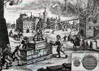 Tak to mogło wyglądać dawniej w Braniewie … grafika przedstawia pożar Norymbergi w 1661 r.