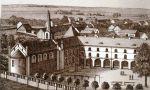 widok na Gimnazjum Hosianum i kościół gimnazjalny z lat 1860-1870, jednak uwagę zwracają liczne spichlerze i budynki gospodarcze na tzw. przedmieściu Koźlin. To właśnie te budynki padały ofiarą licznych pożarów, często o znacznych rozmiarów
